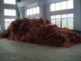 El cable la chatarra de cobre