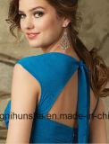Frauen-Schatz-Stutzen gefaltetes Chiffon- Hochzeits-Brautjunfer-Kleid