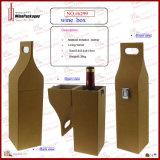 Портативная коробка подарка вина держателя вина несущей упаковки вина (6299)