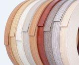 bordure foncée de PVC de 0.5-2mm avec la fibre de bois et la couleur solide