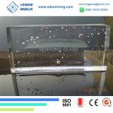 Het decoratieve Duidelijke Berijpte Stevige Transparante Blok van het Glas voor de Muur van het Glas