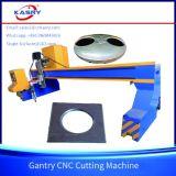 Taglio di piastra metallica d'acciaio con la tagliatrice del plasma di CNC del cavalletto del certificato di iso del Ce