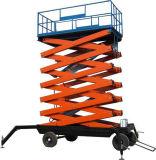 1t hidráulica móvil la plataforma de trabajo, la transpaleta manual