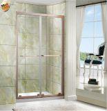 Écran de douche simple de portes coulissantes de douche de la salle de bains deux