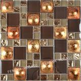 48X48mm Sombra Mosaico / Mosaico de cristal misturado Electroplated
