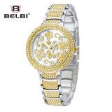 Analoge Horloge Qurtz het Van roestvrij staal van Belbi in de Stijl van de Manier voor Moderne Ladyies.