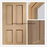 Porta interior, porta de madeira maciça, porta de madeira à prova de fogo com boa qualidade