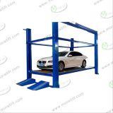 Лифт автомобиля 4 столбов автоматизированный конструкцией для стоянкы автомобилей