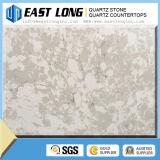 Bancada artificial da pedra de quartzo da pedra de quartzo da cor do mármore do branco chinês para a cozinha