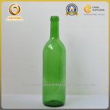 зеленая бутылка вина Бордо 750ml стеклянная с плоским дном (120)