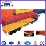 3대의 차축 플래트홈 평상형 트레일러 콘테이너 수송 트럭 트레일러