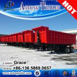 三車軸ダンプの貨物トレーラー、油圧上昇が付いている半30ton-60トンの輸送の石炭のダンプのトラックのトレーラー