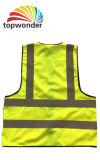 Personalizar veste reflexiva da segurança da visibilidade elevada a vária com bolsos, Zippers, logotipos e cores