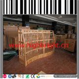Cremagliera di legno di visualizzazione del pane del supermercato e della vendita al dettaglio