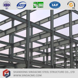 Edificio per uffici chiaro prefabbricato della struttura del blocco per grafici del metallo