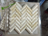 ベージュ大理石のモザイク正方形パターン