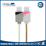 Amant chaud sucré ronde du câble USB de l'alimentation