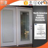 Madeira revestido de alumínio Janela Casement Estores embutido para dentro do obturador da janela de abertura integral cliente afegão