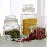 Frasco de vidro do atolamento do alimento do recipiente de vidro do frasco de Preseving do Kitchenware de vidro do frasco de vidro do frasco