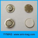 Distintivi di nome del magnete del metallo del piccolo ufficio/distintivo rotondi tasto del magnete