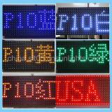 Indicadores de diodo emissor de luz ao ar livre de venda quentes do sinal do diodo emissor de luz da cor P10 vermelha