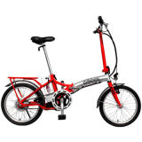 赤く多彩な市道Eのバイクの電気自転車のEバイクのスクーター200WブラシレスモーターShimanoギヤ