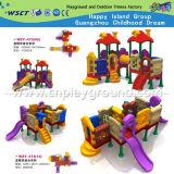 子供の小さいプラスチック運動場のスライドの演劇装置(HD-W-483-9)