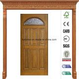 36 в x 80 в двери твердой древесины Prefinished свода близнеца патины Antique Beveled стеклянной