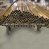 """3/8の"""" X3/8 """" X1mmの懸命に引かれたC26000正方形の整形真鍮の管"""