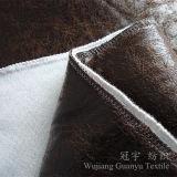 Tissu micro de duvet de Shammy de suède d'or de clinquant pour des couvertures de sofa
