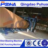 Type machine de rouleau de grenaillage de nettoyage de la poussière de tube en métal