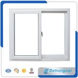 Ventana de cristal doble de la ventana del plástico del perfil de UPVC / PVC / ventana que se desliza con la red de mosquito