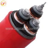 35кв меди (алюминиевый) проводник XLPE изоляцией ПВХ оболочку кабеля питания