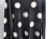 Женщин круглой горловины узором Pullover длинной втулки трикотажные свитер