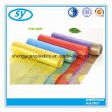 Bolso de basura plástico del lazo del PE con diverso color