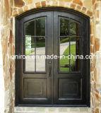 フレンチドアの鋼鉄物質的な機密保護の鉄のドア