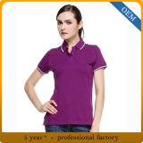デザイン100%年の綿のスポーツのポロシャツの女性
