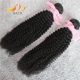 8Aバージンの人間の毛髪もつれ無し取除くモンゴルの人間の毛髪の織り方無し