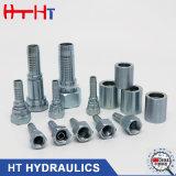 Fabrik-Zubehör-Edelstahl-hydraulische Gummischlauch-Befestigung ISO-7241 Schnellkupplungs