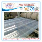Hoja de techo transparente de PVC que hace la máquina