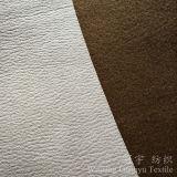 Tessuto di cuoio del pelo della pelle scamosciata del poliestere di timbratura di oro per il sofà