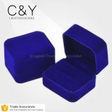 Коробка изготовленный на заказ голубых ювелирных изделий кольца цвета роскошных пластичных упаковывая