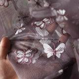 Tende del tessuto della garza delle tende di Tulle ricamate farfalla