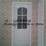 Дверь MDF панели PVC нутряная с декоративным стеклом