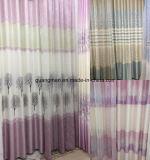 Tela de poliéster de cortina de janela de jacquard europeu de alta qualidade europeia