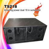 A potência grande Ts218 Dual caixa do altofalante do PA de 18inch Subwoofer