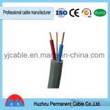 Fil électrique de câble plat de BVVB+E en PVC isolé