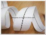 黒いラインが付いている20mmの綿のウェビング