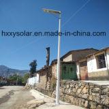 6W tout dans un réverbère actionné solaire de DEL