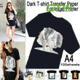 papel de transferência do Sublimation do t-shirt do tamanho de 100GSM A3/A4 para a cor 100% escura do algodão